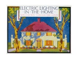 Electric Lighting in the Home, 1910 Giclee Print by Gregory Brown
