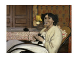 Portrait de Madame Rodrigues-Vallotton, the Artist's Wife, 1902 Giclee Print by Felix Edouard Vallotton