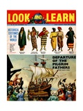 Front Cover Illustration Depicting the 'Departure of the Pilgrim Fathers for America' and… Giclee Print by Ron Embleton