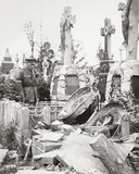 French Graves Smashed by German Shell Fire - a German Sniper Was Discovered Hidden by a Coffin Photographic Print by  English Photographer