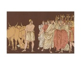 Cincinnatus Called to Be Dictator Giclee Print by Bartolomeo Pinelli