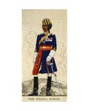 Risaldar-Major in Full Dress of the Poona Horse, Indian Army, 1938 Giclee Print