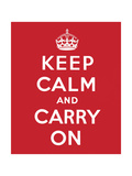 'Keep Calm and Carry On', 1939 Giclee Print by  English School