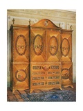 Satinwood Wardrobe, Inlaid with Tulipwood, Harewood, Holly, Ebony, Mahogany, and Other Woods Giclee Print by Edwin John Foley