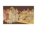Roman Ladies Bringing their Ornaments Giclee Print by Bartolomeo Pinelli