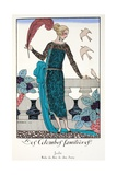 Les Colombes Familieres - Jade - Evening Gown de Chez Jenny 1920 Giclee Print by Georges Barbier