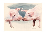 Two Little Piggies, 2012 Giclee Print by Alison Cooper