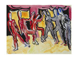Mary Wigman Dance Group (Recto); Tanzgruppe Mary Wigman (Recto), 1926 Giclee Print by Ernst Ludwig Kirchner