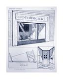 Shop Front, Plate 2, Illustration from 'Devantures de Boutiques' by Louis-Pierre Sezille, Paris,… Giclee Print by  French School
