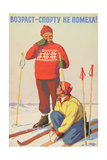 Age Is No Hindrance to Sports !, 1957 Giclee Print by Vadim Petrovich Volikov