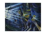 Le Forze Di Una Strada, 1911 Giclee-trykk av Umberto Boccioni