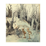 Elves in a Wood, 1908 Gicléetryck av Arthur Rackham