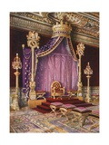 The Salle Du Trone in the Palace of Fontainebleau Giclee Print by Edwin John Foley