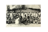 King Sri II and His Suite, Togo, c.1920 Giclee Print