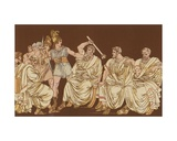 The Gauls and the Senators Giclee Print by Bartolomeo Pinelli