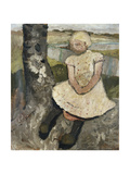 Child Sitting under a Tree; Kind Sitzend Unter Einem Baum, c.1905 Gicleetryck av Paula Modersohn-Becker
