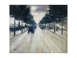 The Embankment, London, 1926 Giclee Print by Lesser Ury