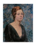 Portrait of Valentine Tessier, 1914 Giclee Print by Theo Van Rysselberghe