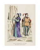 Page and Troubadour of the 13th Century Giclee Print by  French School