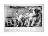 Charging a Torpedo Tube in a German Submarine, from the Illustrated War News, 30th September 1914 Giclee Print by  English School