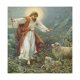 Jesus Christ, the Tender Shepherd Giclee Print by Ambrose Dudley