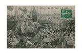 Carnaval de Nice 1913. Postcard Sent in 1913 Giclee Print by  French Photographer