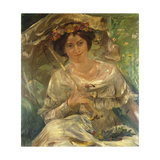 Woman in the Sunshine; Dame Im Sonnenschein, 1910 Giclee Print by Lovis Corinth