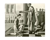 Olympic Victor Being Crowned, Illustration from 'Newnes' Pictorial Knowledge', 1932 Giclee Print by  English School
