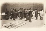 The Jury at the Salon des Artistes Francais, Grand Palais, Paris, May 1903 Photographic Print by  French Photographer