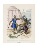 Sergeant of Arms Arresting a Looter, 1290-1330 Giclee Print by  French School