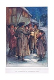 The Villagers Kept Up the Christmas Carol, Illustration from 'The Vicar of Wakefield' by Oliver… Giclee Print by Margaret Jameson