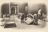 Preparations for Hanging at the Salon des Artistes Francais, Grand Palais, Paris, May 1903 Photographic Print by  French Photographer