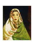 Mexican Girl with Oriental Scarf, 1916 Giclee Print by Robert Henri