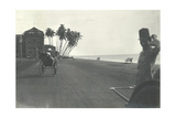 Judy Smith on a Rickshaw Near Galle Face Hotel, Colombo, Ceylon, 1912 Photographic Print by  English Photographer