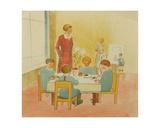 Socialist Kindergarten, 1924 Giclee Print by Natalia Aleksandrovna Gippius