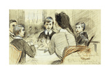 La Centre de La Famille: a Family Dinner at the Ritz, New York, 1920 Giclee Print by Paul Cesar Helleu