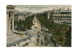 Boulevards of Paris, Seen from Boulevard de La Madeleine. Postcard Sent in 1913 Giclée-tryk af French Photographer