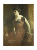 The Cornelian Necklace (Portrait of Miss R), 1924 Giclee Print by Charles Courtney Curran