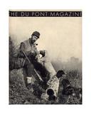 Man with Hunting Dogs, Front Cover of the 'Dupont Magazine', November 1934 Giclee Print by  American School