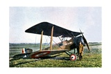 "The ""Yen a Bon"" Fighter Plane, a British Built Sopwith Piloted by Lieutenant Pierre Daucourt,… Giclee Print by Jules Gervais-Courtellemont"