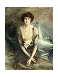Portrait of Mrs. George McFadden Seated, Three-Quarter Length, 1919 Giclee Print by Giovanni Boldini