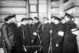 A Group of Students Acting as Militiamen, St Petersburg, 1917 Photographic Print by  Russian Photographer
