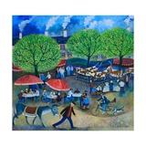 Another Market Day, 2008 Giclée-tryk af Lisa Graa Jensen