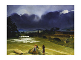 Haymaking, 1942 Giclee Print by Richard Muller