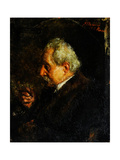 Portrait of the Artist's Father, 1910 Giclee Print by Antonio Mancini
