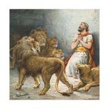 Daniel in the Lion's Den Giclée-tryk af Ambrose Dudley