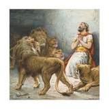 Daniel in the Lion's Den Giclee Print by Ambrose Dudley