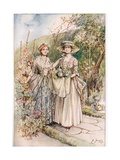 'We Met in the Garden', Illustration from 'The Vicar of Wakefield' by Oliver Goldsmith, c.1910 Giclee Print by Margaret Jameson