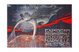 Poster Advertising the Exposition Internationale d'Electricite at Marseille, 1908 Giclee Print by David Dellepiane