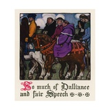 Chaucer: The Tale of the Wife of Bath Giclee Print by Walter Appleton Clark